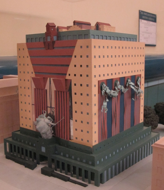 The Michael Graves original design model of the Portland Building.