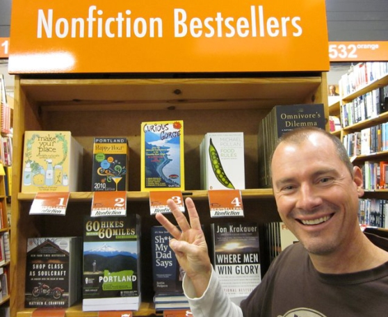 Scott Cook's proudest moment to date, making it to #3 on the Powell's bestseller list.