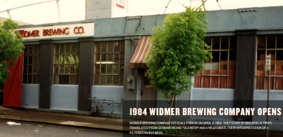 "Widmer Brewing in their first building on 14th and Lovejoy before moving over to N. Russell.  This was before they were called ""Widmer Brothers"""